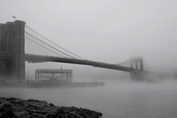 Brooklyn Bridge Mist B&W