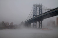 Manhattan Bridge Fog