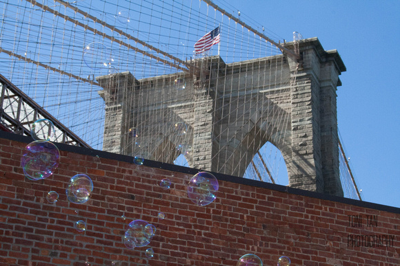 Brooklyn Bridge Bubbles